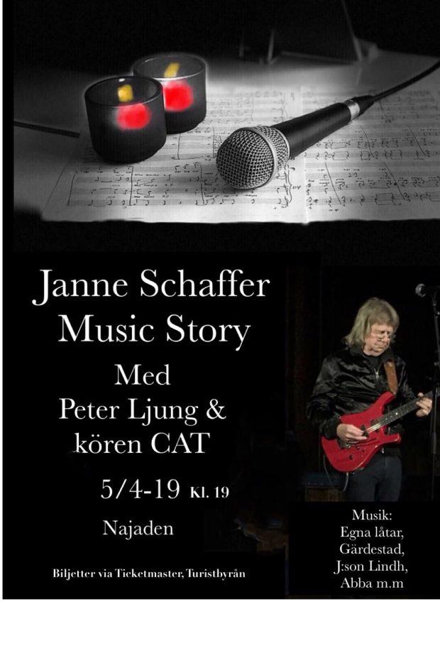 Janne Schaffer Music Story med Peter Ljung och kören CAT @ Najaden