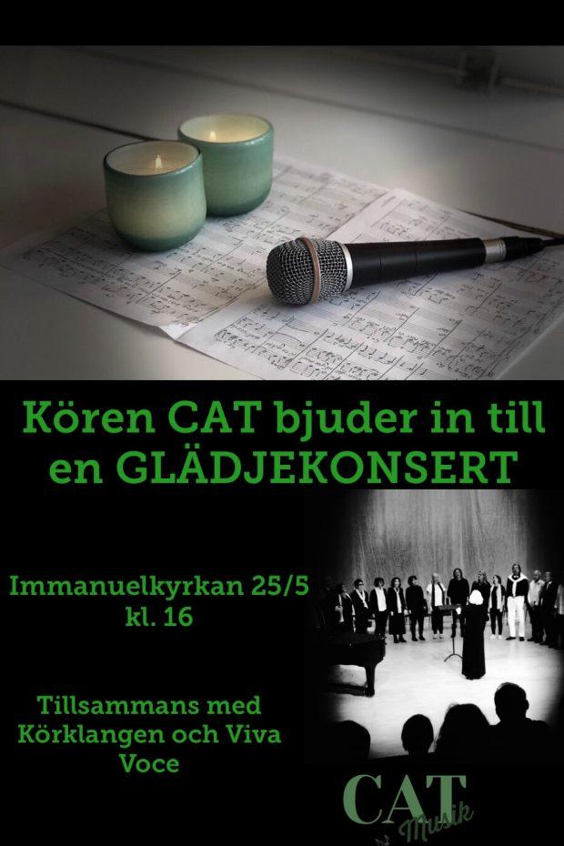Kören CAT bjuder in till en GLÄDJEKONSERT tillsammans med Körklangen och Viva Voce @ immanuelkyrkan